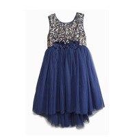 Casual Dress Schöne Mädchen Pailletten Tüll Kleid Funkelnden Sonnenschein Stück Gold Weste Kleid Mode Kleid