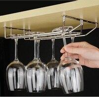 8PCS Lot Wine Glass Top Mount Rack Holders Hanger Chrome Single Row