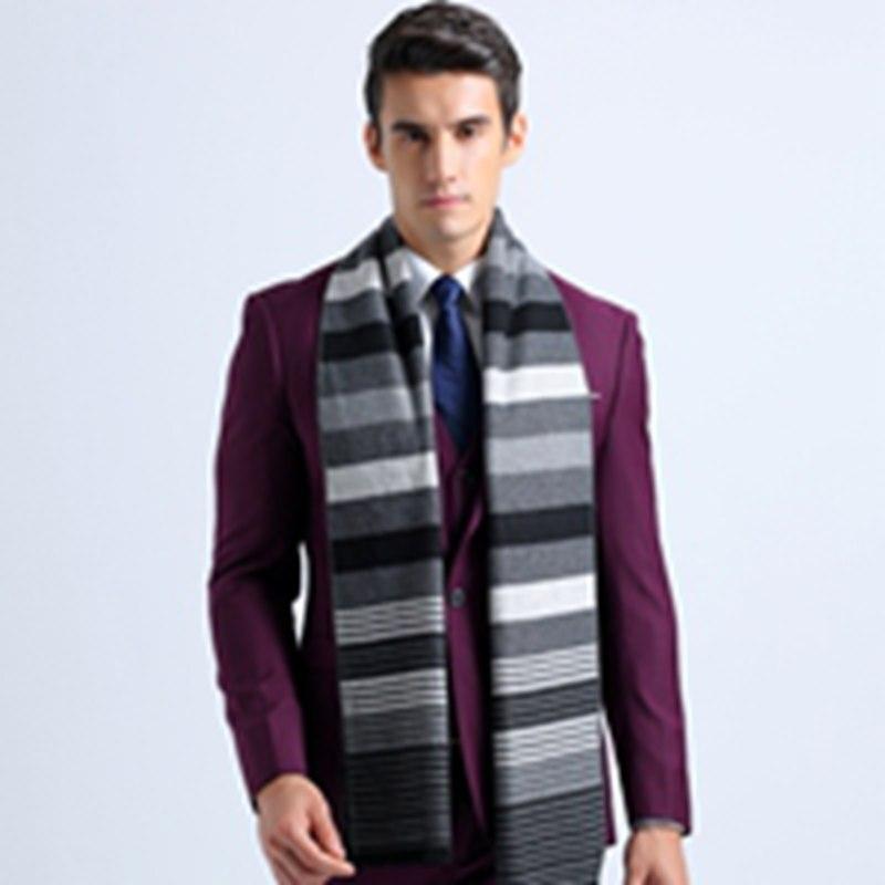 New Striped Patchwork Cotton Basic Scarves Winter England Style Men Business Scarf font b Tartan b