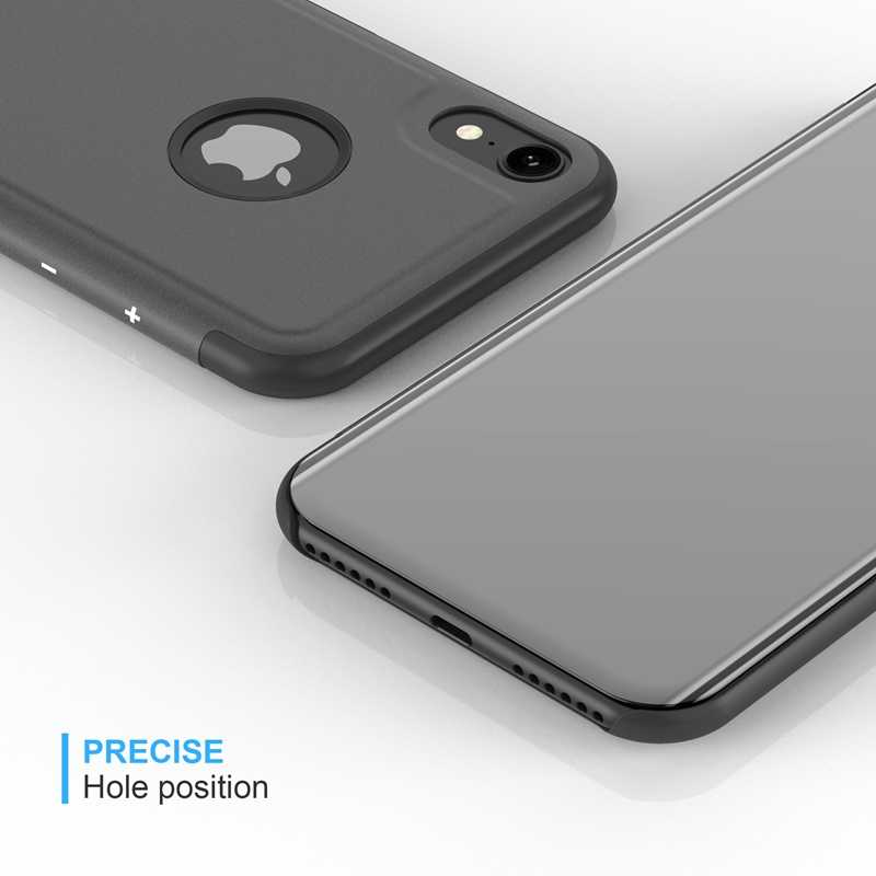 094d26bf0 ... Luxury Mirror Clear View Case for iPhone 6 6S 7 8 plus X Xs Max Xr ...