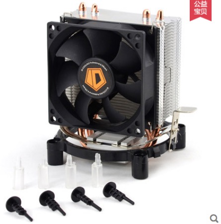 все цены на  High quality 80mm fan 2 heatpipe TDP 95W for LGA 775 1150 1151 FM2 FM1 AM3+ AM2+ CPU cooler fan ID-Cooling SE-802 Free shipping  онлайн