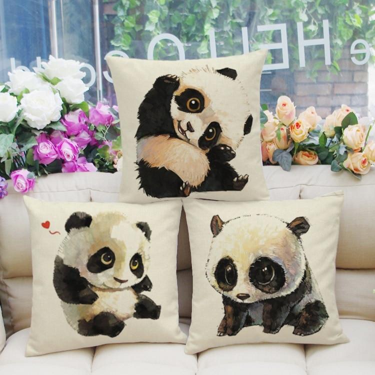 Achetez en gros panda taie d 39 oreiller en ligne des for Taie d oreiller pour canape