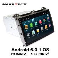 Smartech 9 بوصة راديو السيارة لتويوتا برادو 120 2004-2009 quadcore الروبوت 6.0 سيارة الوسائط المتعددة مع 2 جرام ram المقود wifi 3 جرام