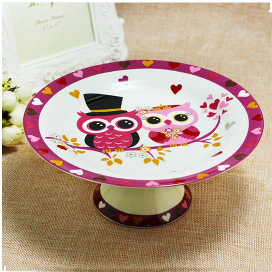 8 inch cartoon creative ceramic plate stands handpainted owl dish rh sites google com