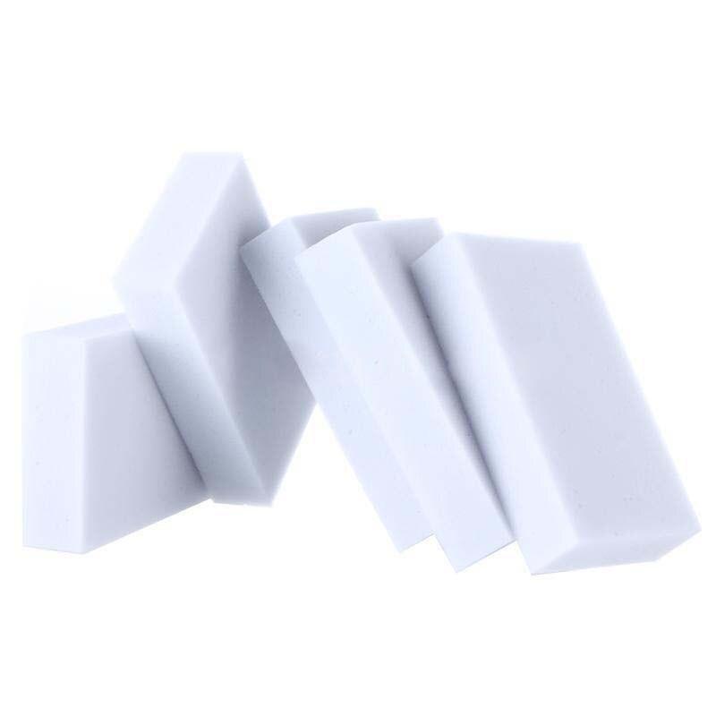 100pcs Eraser Melamine Foam Cleaner Magic Sponge MultiFunctional Soft White