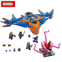 Bela 10748 Super Heroes The Milano Vs The Abilisk Aircraft Building Block Brick Toys Compatible With