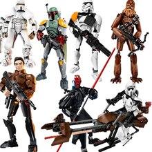 New Star Wars Darth Maul Chewbacca Jango Phasma Jyn Erso K-2SO Darth Vader Grievous Figure Building Blocks
