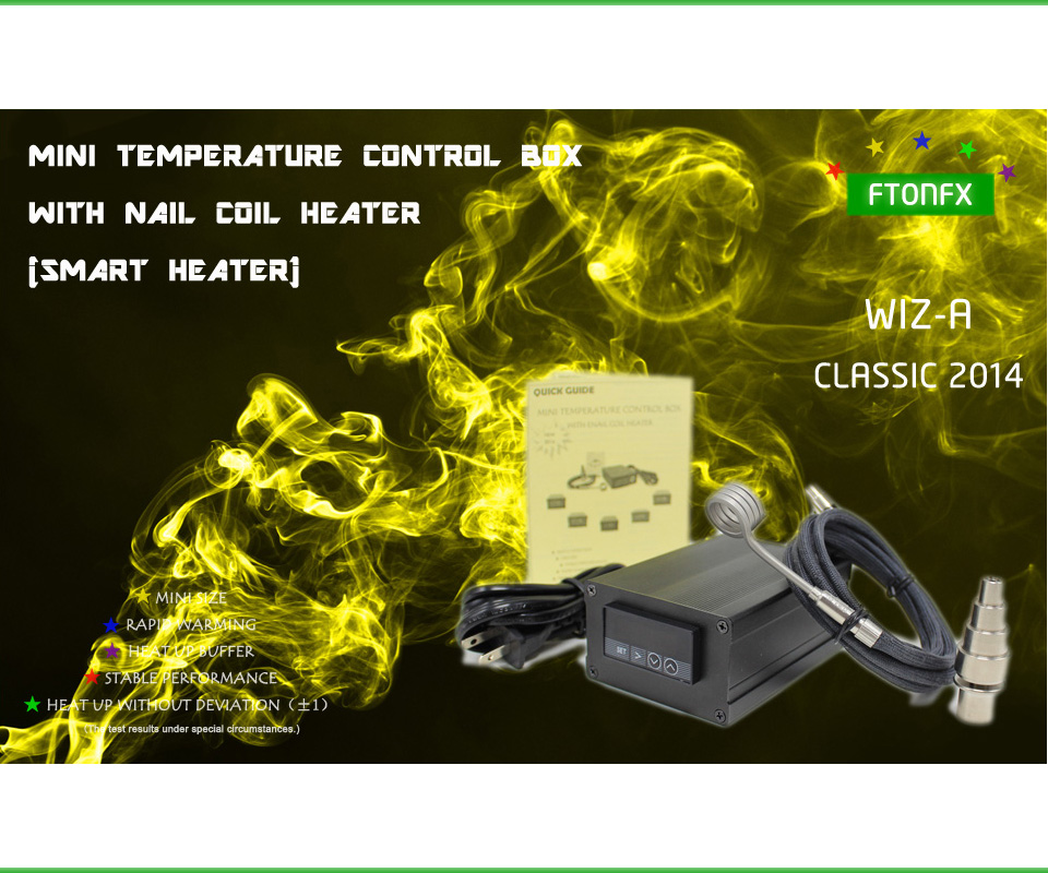 ФОТО (CLASSIC 2014 ,WIZA ,Contain Titanium nail)SMALL DIGITAL TEMPERATURE CONTROL BOX NAIL COIL HEATER,DIRECT MANUFACTURER!
