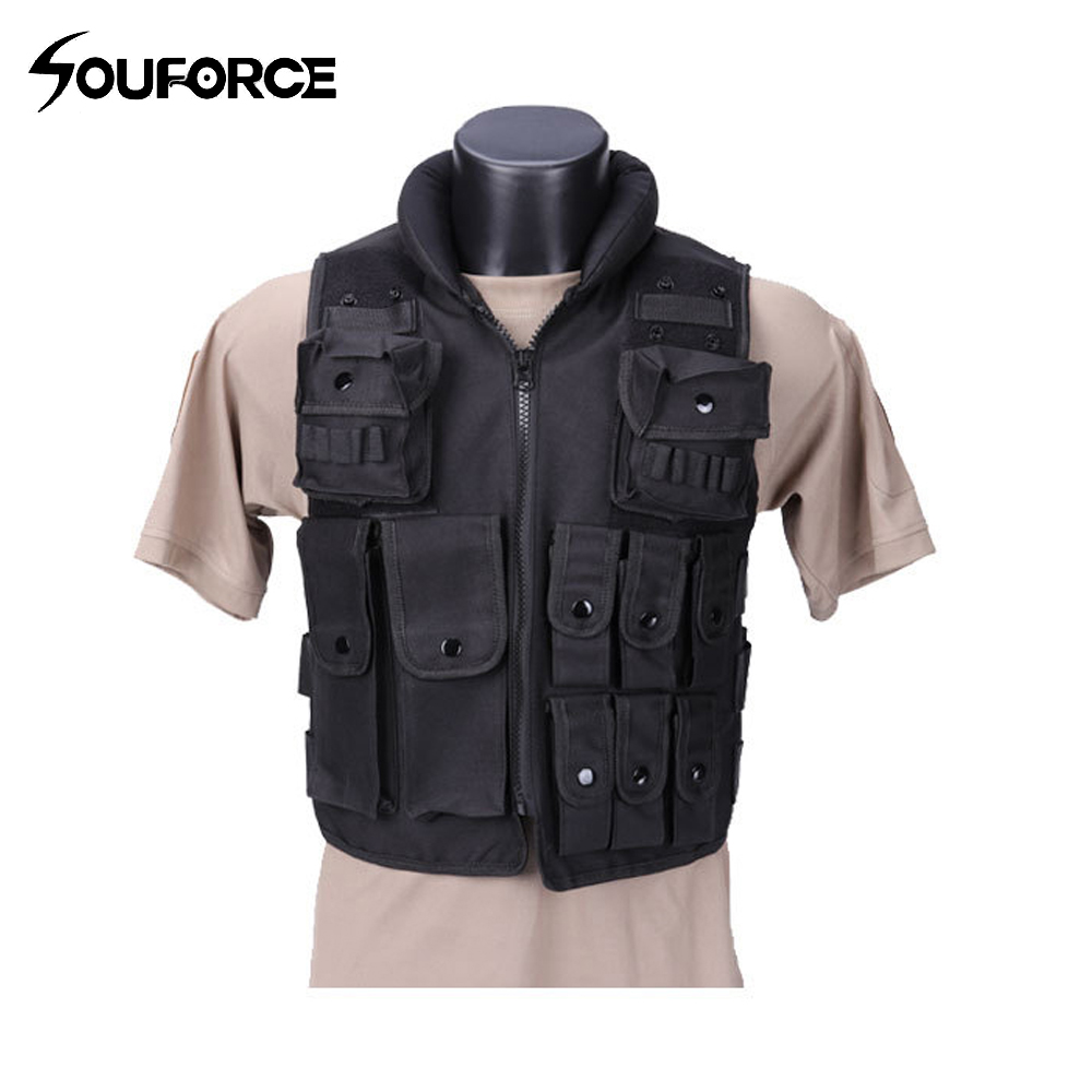 Black Military Vest Wargame Body Armor Sports Wear Hunting Vest CS Four Seasons Outdoor Products Equipment