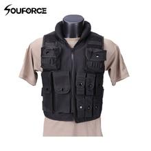 Black Military Vest Wargame Body Armor Sports Wear Hunting V