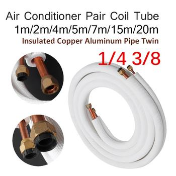 цена на 1/2/4/7/15m Insulated Copper Pipe 1/4'' 3/8'' Air Conditioner Pipes Fittings Pair Coil Tube Split Line Wire Set Air Conditioner
