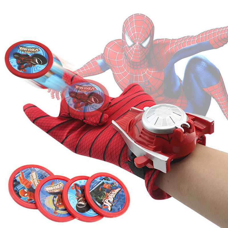 Avengers Peluncuran Sarung Tangan Mainan Anak Marvel Spiderman Iron Man Hulk Captain America Batman Model Action Figure Cosplay Pesta Hadiah
