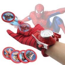 Avengers uruchom rękawica zabawka dla dzieci Marvel Spiderman Iron Man Hulk kapitan ameryka Batman figurki postaci na imprezę cosplay prezent tanie tanio Model Żołnierz gotowy produkt Wyroby gotowe Unisex 12 cm Z tworzywa sztucznego Action Figures Cosplay Party Gift Zachodnia animiation