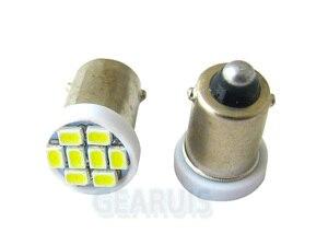 Image 2 - 100 pièces pour camion LED 24V BA9S 8 SMD 3020 LED 8SMD 1206 6523 1895 T4W, ampoules de lecture intérieure, blanc, bleu, rouge, jaune et vert, DC24V
