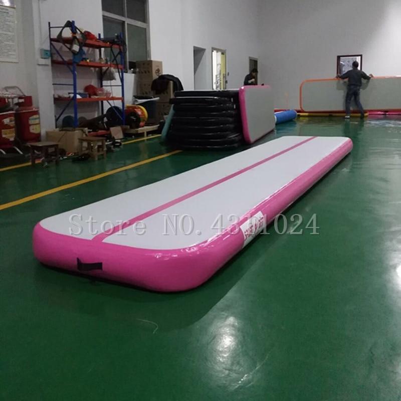 Livraison gratuite 6 M offre spéciale pliage haut tapis de saut d'obstacles gymnastique Air tapis d'entraînement, gonflable piste d'air Cheerleading à vendre