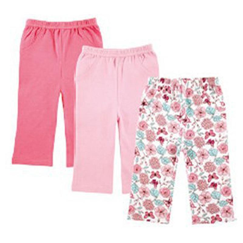 Baby Trousers Luvable Friends Pants Autumn Boy/girl 100%Cotton Brand Wholesale 3pcs/Lot