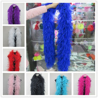 YY tesco Quality 6Layers Natural Ostrich Feather Boa Stage Performance Clothing Accessories Decoration Diy White Feather