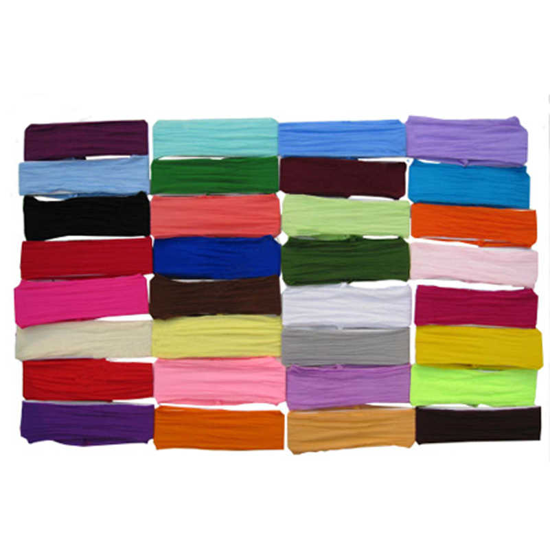 120PCS/lot nylon headband toddler  headbands children   hair bands 32color for your choice free shipping