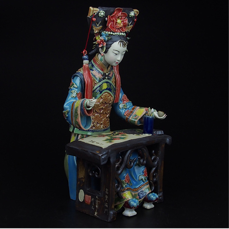 Shiwan Doll Master Fine Ceramic Ornaments Ancient Times Classical People Beautiful Women Rich And Rich Living Room Decor M1243Shiwan Doll Master Fine Ceramic Ornaments Ancient Times Classical People Beautiful Women Rich And Rich Living Room Decor M1243