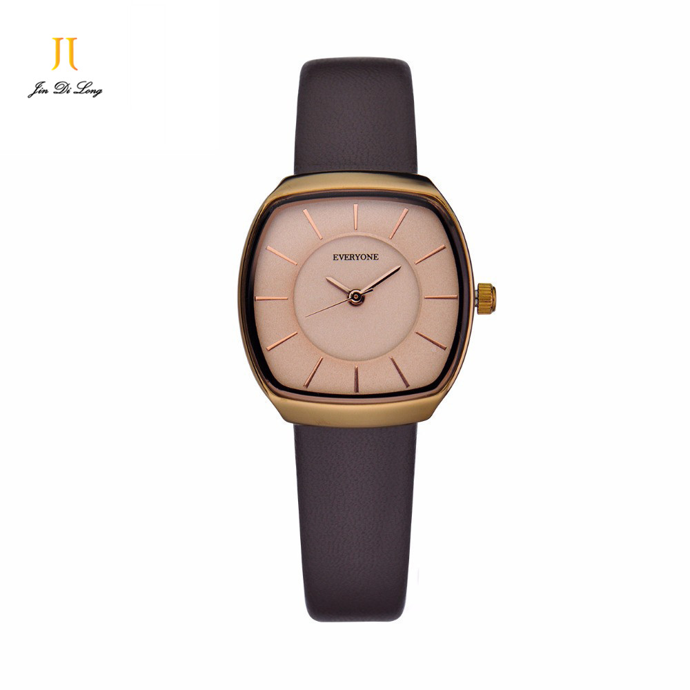 2 *#fashion Quartz Brand Lady Watches Women Luxury Rose Gold Antique Square Leather Dress Wrist watch Relogio Feminino Montre watch women luxury brand lady crystal fashion rose gold quartz wrist watches female stainless steel wristwatch relogio feminino