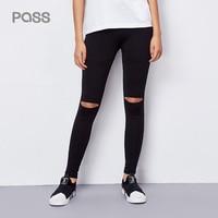 Pass Women Trouser Hole Ripped Leggings Femme Elasticity High Waist Skinny Jeans Women Pencil Pants Legging Femme Mujer