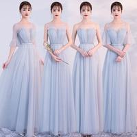 Cheap Long Chiffon Bridesmaid Dresses 2019 A Line Vestido De Festa De Casamen Formal Party Prom Dresses bruidsmeisje jurk