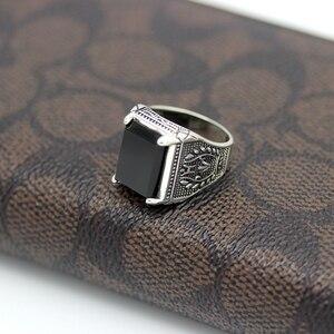 Image 2 - Eulonvan Luxe Vintage 925 Sterling Zilver Zwart Ringen Sieraden & Accessoires Mannen Dropshipping Zirconia S 3810 Size 6   13