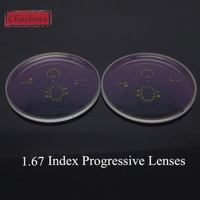 Chashma Anti UV Anti Radiation Aspheric Surface 1.67 Index Interior Progressive Addition Lenses