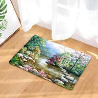 Schöne Ländliche Landschaft Muster Fußmatten Mini Hause Teppiche für Badezimmer Schlafzimmer Fußmatten, Haustür Teppiche, Tapetes