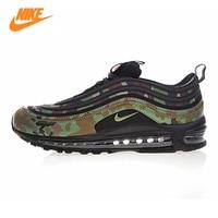 Nike Air Max 97 Premium QS Men's Running Shoes, Camo Yellow / Army Green, Shock absorbing Breathable AJ2614 203 AJ2614 202
