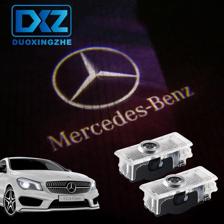 DXZ 2 20pcscar Logo Porte Lumière Bienvenue Voiture LED Projecteur Laser Pour Mercedes Benz C218 A207 C207 C117 CLS CLA E Cabriolet Coupé (6.5)