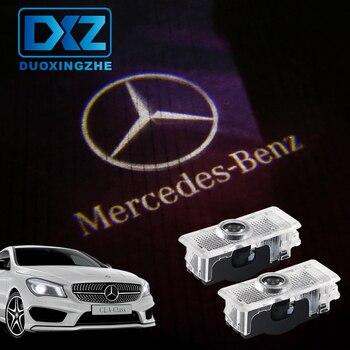 DXZ 2PCSCar Logo Door Welcome Light Car LED Projector Laser For Mercedes Benz C218 A207 C207 C117 CLS CLA E Cabriolet Coupe(6.5) Mercedes-Benz CLA-класс