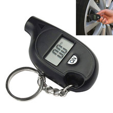New Portable Mini LCD Digital Tire Tyre Air Pressure Gauge Tester Keychain for Car Truck Bicycle