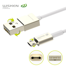 WSKEN Fast Double-sided Metal micro usb cable charger for Android phone Samsung Xiaomi Huawei  meizu m3 note
