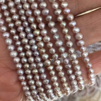 wholesale natural purple small 3-3.5mm freshwater pearl strands