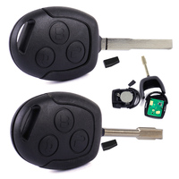 DWCX New Black Car Remote Key 3 Button Entry Key 433MHZ Replacement Fit For Ford Mondeo