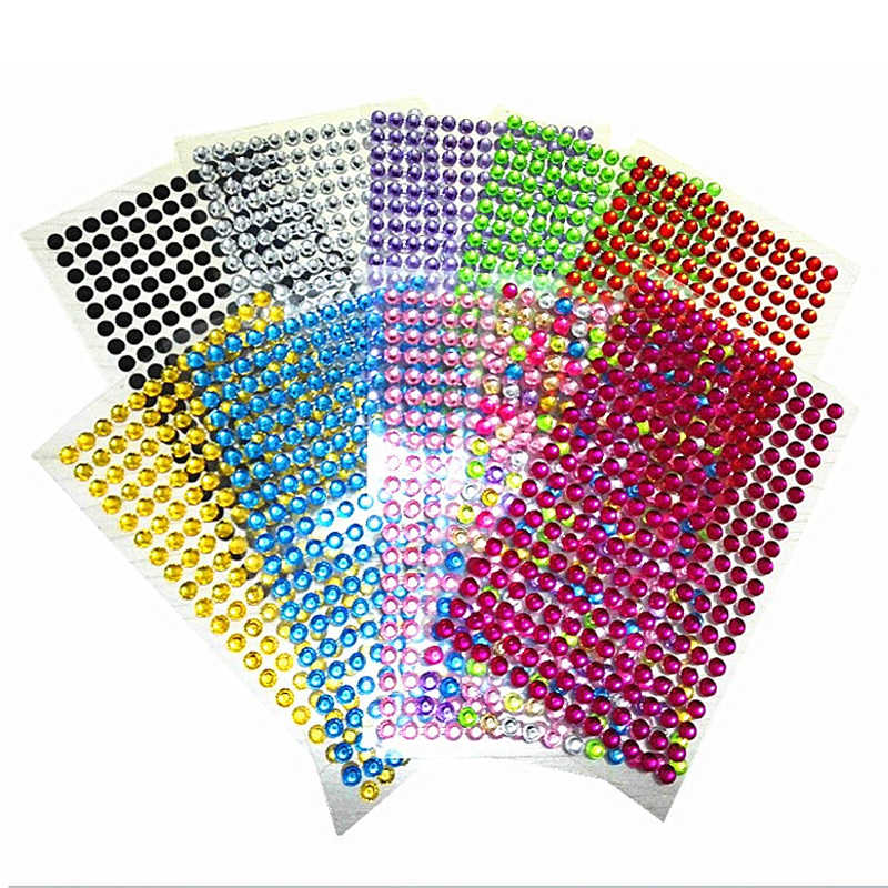 260pcs//set 6mm Rhinestone Nail Car Decoration Sticker Diamond Crystal DI OQFZT