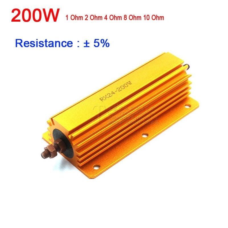 1000W 2ohm aluminium shell braking resistor resistance Dummy Load for Audio 2pcs