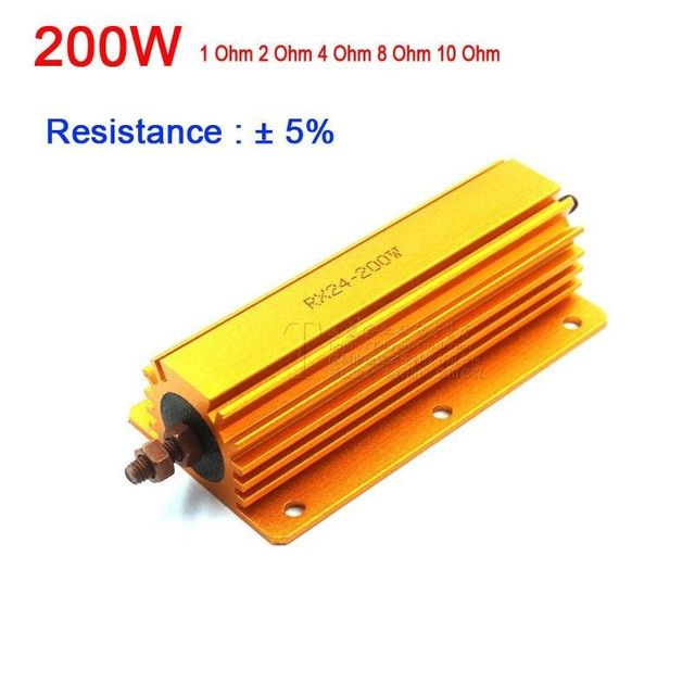 Resistencia de Metal de 200W 1R 2R 4R 8R 10R 1ohm/2ohm/ 4ohm / 8ohm 10 ohm para placa base amplificador de tubo carga simulada de prueba
