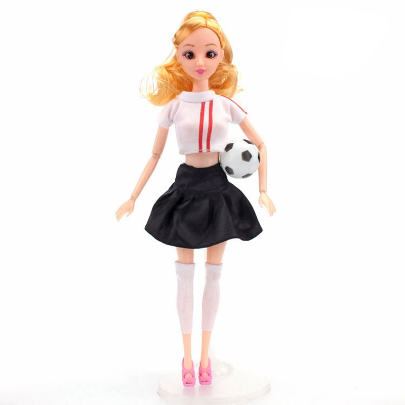 Handmade Casual Football Girl Doll Clothes Sports Girl Clothes for Dolls Football Baby Sport Suits Barbies Clothes Accessories (1)