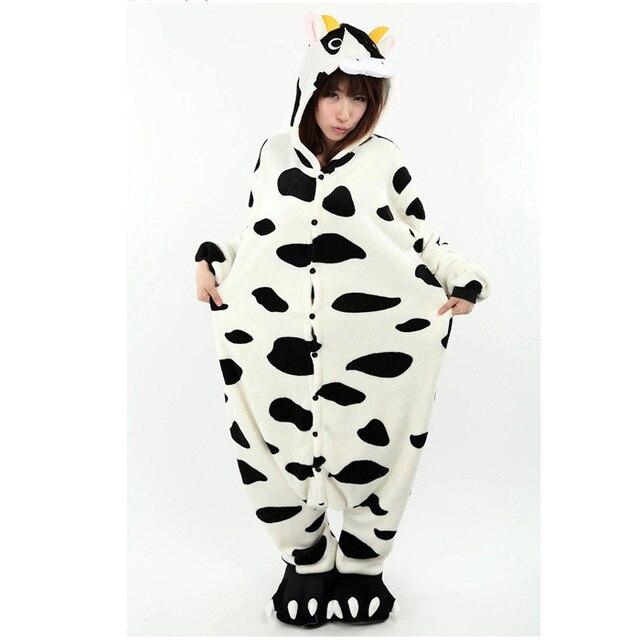 new anime halloween costumes for women new animal milk cow women funny onesie soft loose pajamas - Halloween Costume Cow