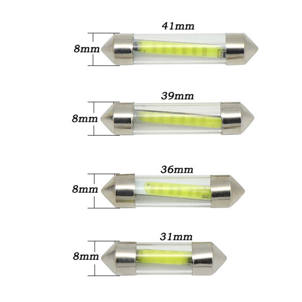 1pcs Festoon 31mm 36mm 39mm 41mm LED Bulb C5W Super Bright Auto Interior Dome Lamp Car Styling Light