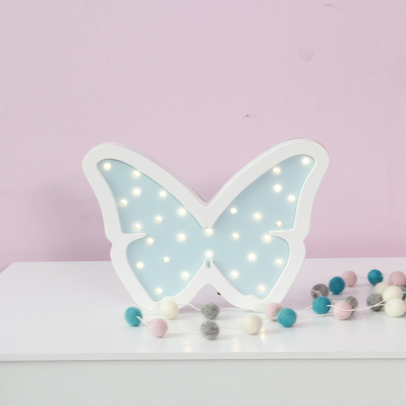 Butterfly Led Night Light Wooden for Baby Children Kids Gift Table ...