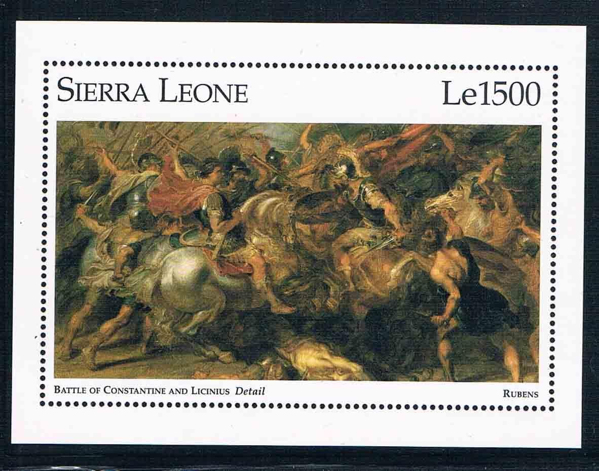 DA0630 Lubensi, Sierra Leone 1995 West flow war Constantin painting 1 new stamps total fluide da в перми