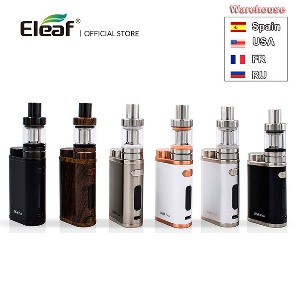 Warehouse Original Eleaf IStick Pico Kit With MELO III Mini Atomizer 1-75W 2ml Or 4ml Melo 3 Tank Vape EC Head E-Cigarette