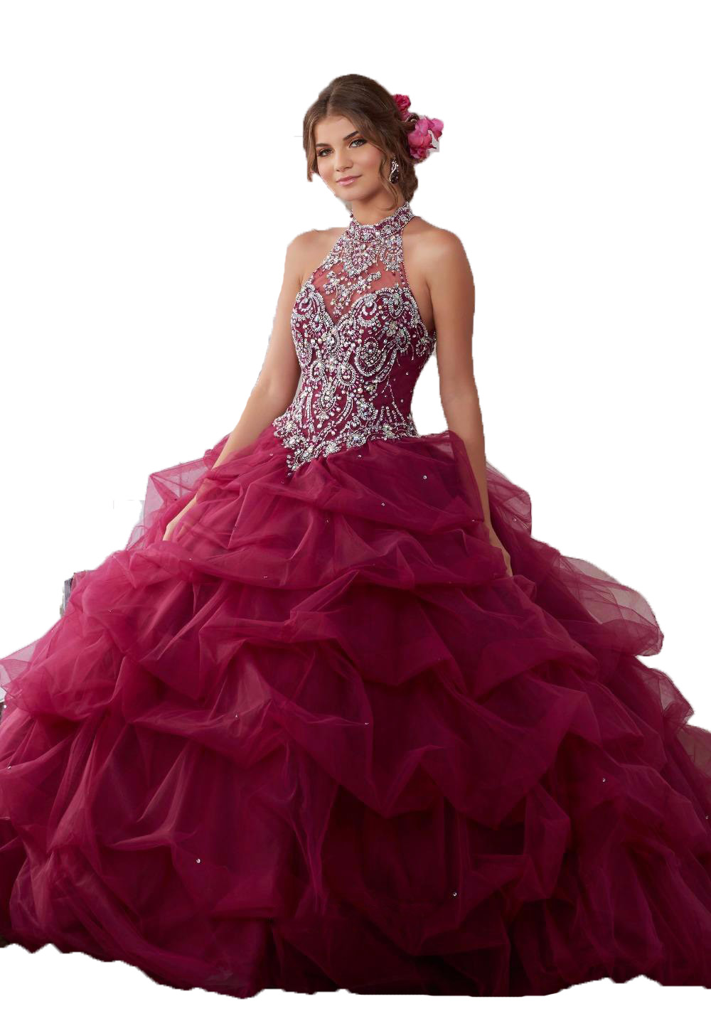 Popular Dark Red Quinceanera Dresses - 191.0KB