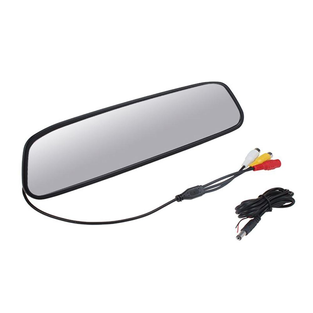 """Prix pour Haute résolution 5 """"TFT LCD Vue Arrière de Voiture Support Miroir Moniteur Aide Au Stationnement 5 pouce écran Moniteur de voiture"""