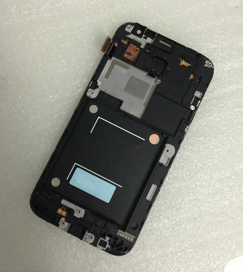 imágenes para Blanco de la Pantalla Táctil de Cristal Digitalizador + LCD de Pantalla Asamblea + Frame Para Samsung Galaxy Core Primer G360 G3608 SM-G360F Duos