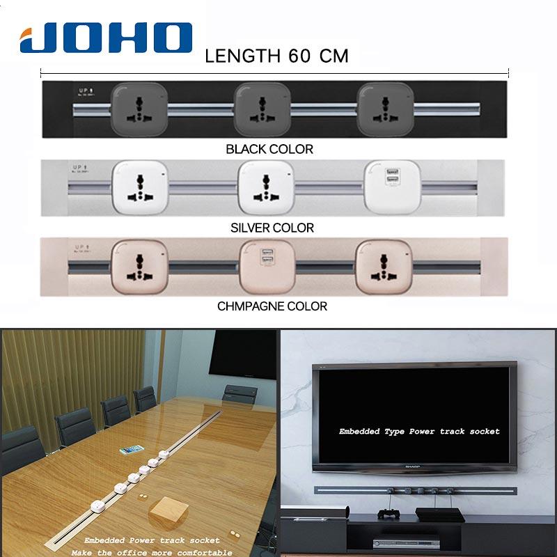 JOHO 60cm 32A maison prise de terre interrupteur Total Tomada Stopcontact 3C adaptateur salle de réunion salon chambre
