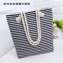 649718f8d84f Black White Striped Canvas Baby Diaper Bag Korean Style Maternity Bag Cheap  Baby Bag Organizer For